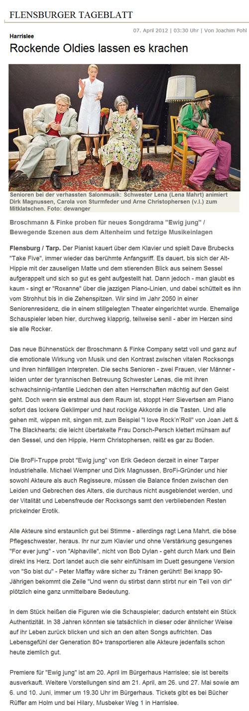 Flensburger Tageblatt, 07.04.2012