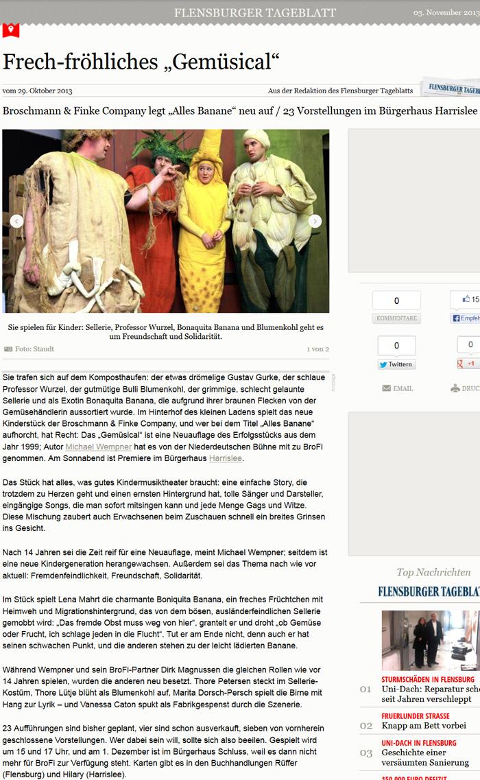 """Vorbericht zum Kinderstück """"Allles Banane"""""""