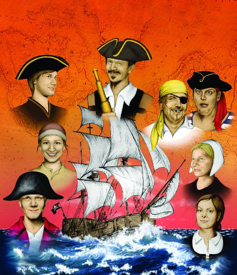 Plakat Piratenschiff